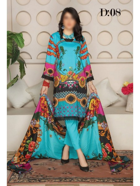 RANGRITI Unstitched Digital Viscose Printed Embroidered Collection D-08
