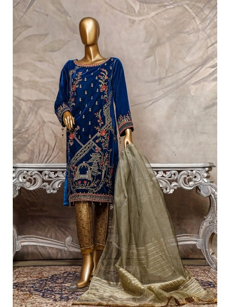 SADABAHAR Stitched Embroidered Velvet Shirt Collection D-207