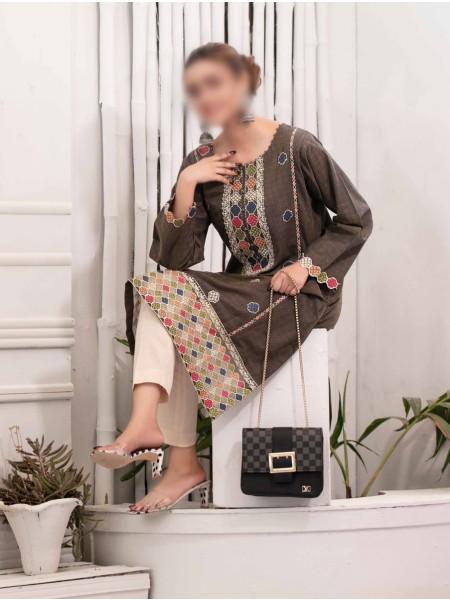 TAWAKKAL Panache Rangoli Stitched Cotton D9247