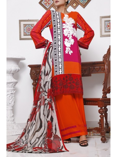 VS TEXTILE Ayesha Alishba Unstiched Linen Embroidered Collection V-01 D-21