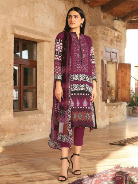 Edenrobe Unstitched Collection EWU20W12-20153 - 3 Piece