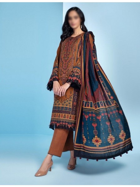 JAZMIN IRAS Embroidered Unstithed Khaddar Collection 2020 D-01 KAYSAR