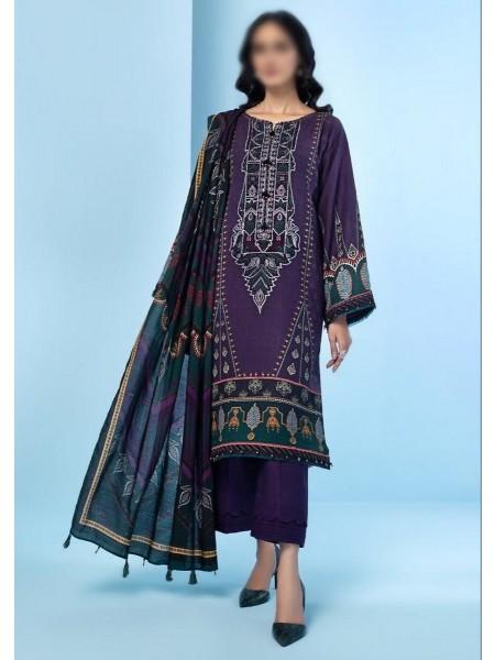 JAZMIN IRAS Embroidered Unstithed Khaddar Collection 2020 D-03 SOHAI