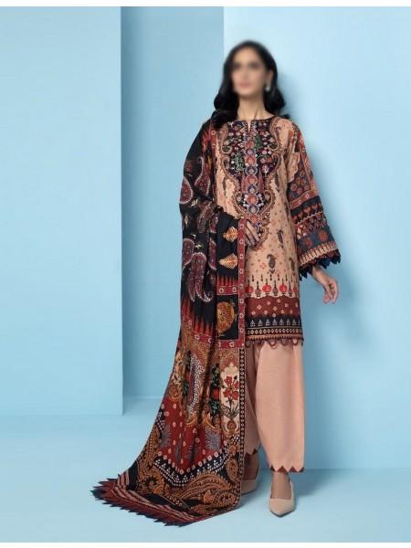 JAZMIN IRAS Embroidered Unstithed Khaddar Collection 2020 D-04 DEEBA
