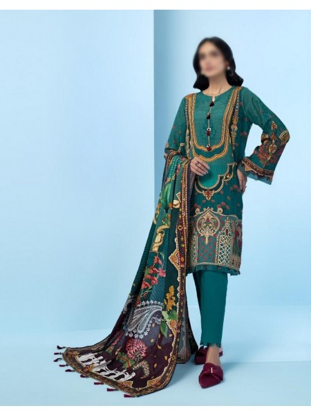 JAZMIN IRAS Embroidered Unstithed Khaddar Collection 2020 D-06 ZANDER