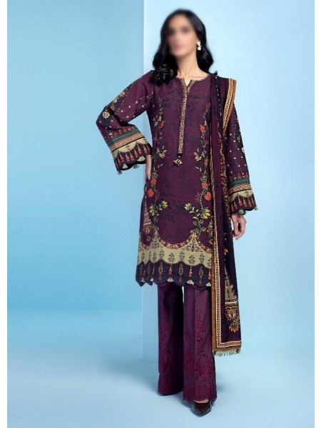 JAZMIN IRAS Embroidered Unstithed Khaddar Collection 2020 D-10 JANAN