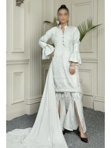 MARJJAN Embroidered Peach Leather Unstitched Collection D-PL-16(Grey)