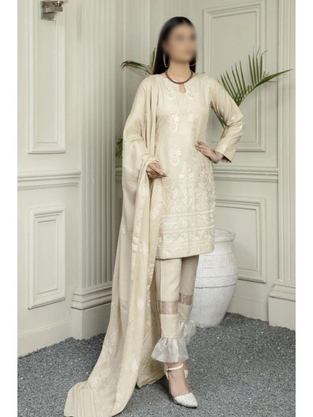 MARJJAN Embroidered Peach Leather Unstitched Collection D-PL-16(Skin)