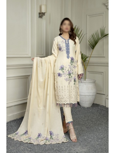 MARJJAN Unstitched Embroidered Peach Leather D-PL 23 A
