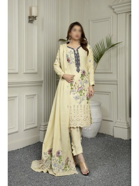 MARJJAN Unstitched Embroidered Peach Leather D-PL 23 B