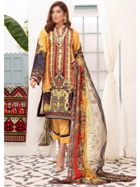 NUR Dastoor Printed Viscose Unstitch Collection - D-V-10