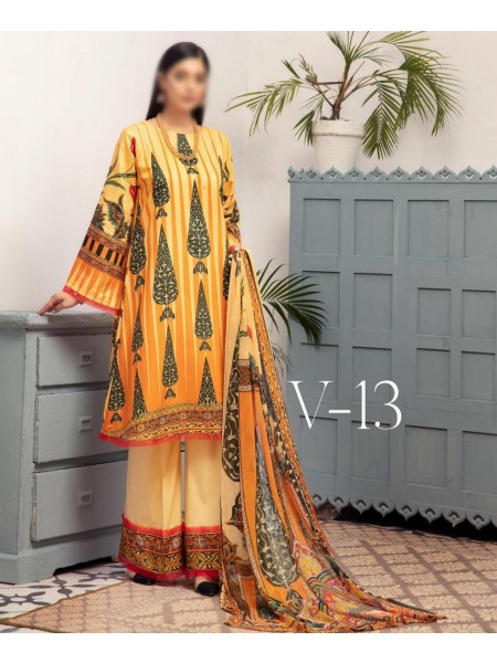NUR Dastoor Printed Viscose Unstitch Collection - D-V-13
