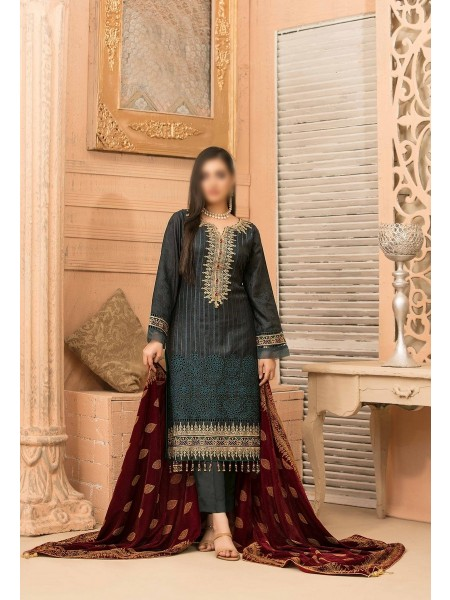 RIAZ ARTS Benita Fancy Ustitched Leather Viscose Collection D-D 9325