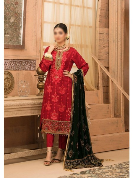 RIAZ ARTS Benita Fancy Ustitched Leather Viscose Collection D-D 9332