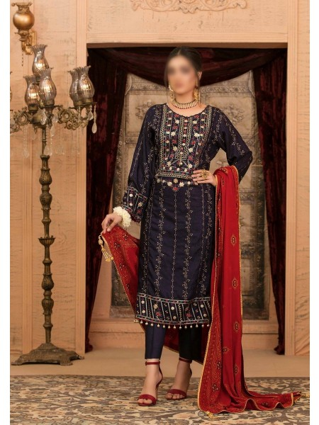 RIAZ ARTS Benita Fancy Ustitched Leather Viscose Collection D-D 9333