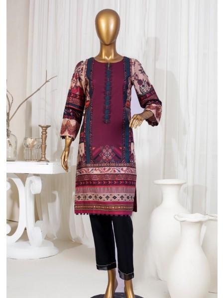 SADABAHAR STITCHED Digital Printed Satin Silk Tunics D-St 3971