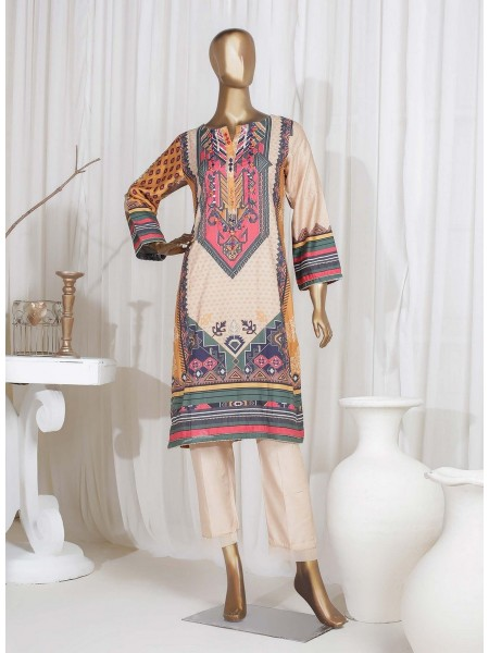 SADABAHAR STITCHED Digital Printed Satin Silk Tunics D-St 3972