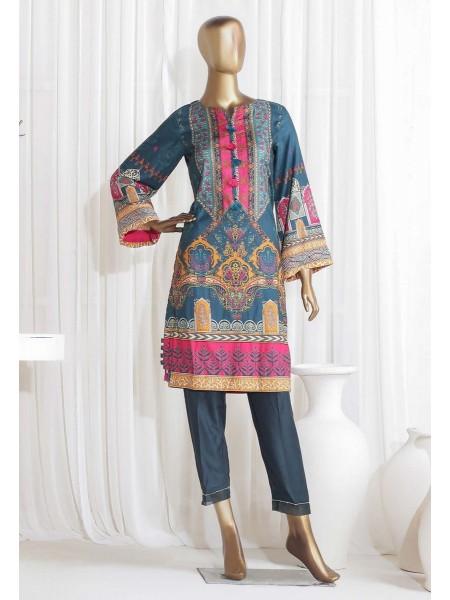 SADABAHAR STITCHED Digital Printed Satin Silk Tunics D-St 3973