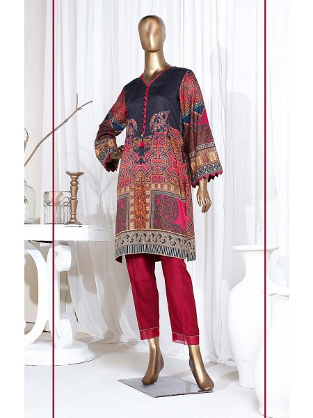 SADABAHAR STITCHED Digital Printed Satin Silk Tunics D-St 3974