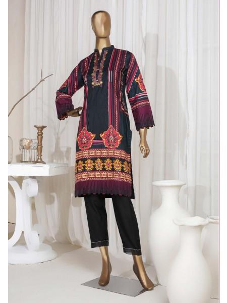 SADABAHAR STITCHED Digital Printed Satin Silk Tunics D-St 3975