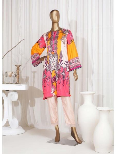SADABAHAR STITCHED Digital Printed Satin Silk Tunics D-St 3976