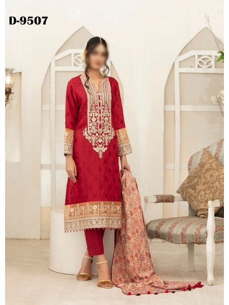 TAWAKKAL Amelie Unstitched Pashmina Shawl & Viscose Jacquard Collection D-D 9507