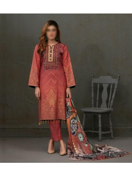 TAWAKKAL Talita Shaded Unstitched Viscose Banarsi Collection D-9557