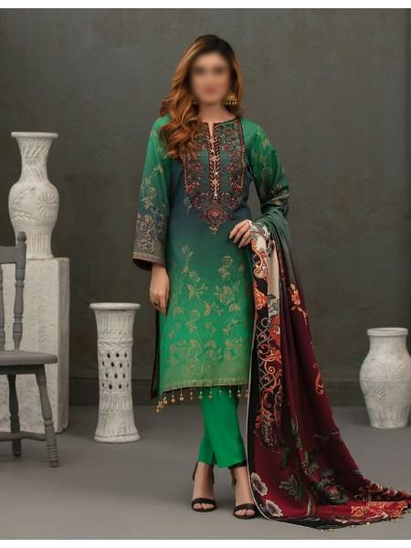 TAWAKKAL Talita Shaded Unstitched Viscose Banarsi Collection D-9558