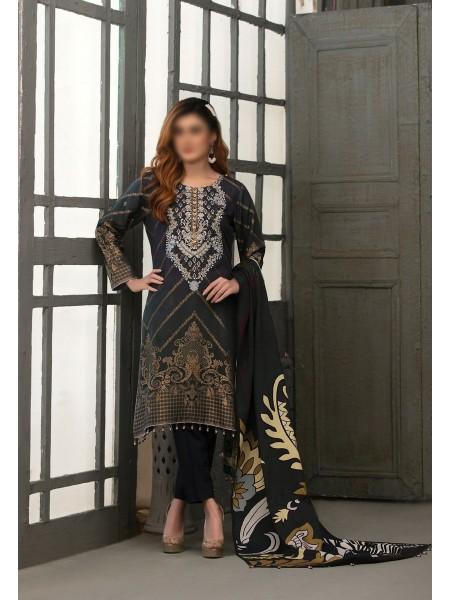 TAWAKKAL Talita Shaded Unstitched Viscose Banarsi Collection D-9559