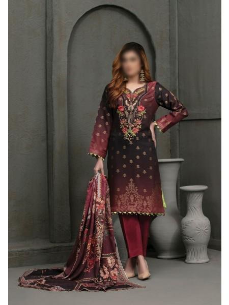 TAWAKKAL Talita Shaded Unstitched Viscose Banarsi Collection D-9560