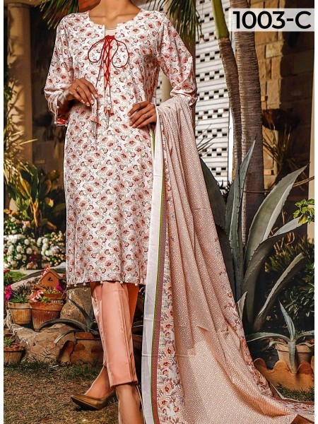 AM TEXTILE Komal Print Wrinkle Free Collection VOl 1 D-1003C