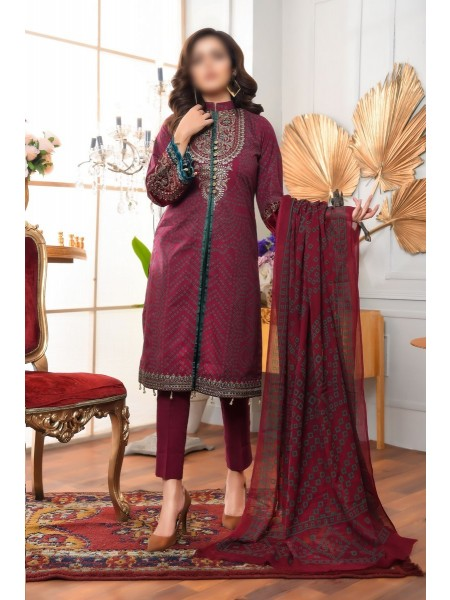 AMNA KHADIJA Qaus-e-Aazah Signature Unstitched Chundri Collection D-01