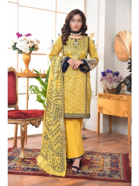 AMNA KHADIJA Qaus-e-Aazah Signature Unstitched Chundri Collection D-02