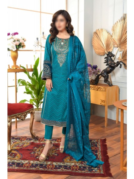 AMNA KHADIJA Qaus-e-Aazah Signature Unstitched Chundri Collection D-03