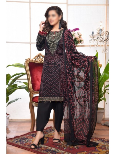 AMNA KHADIJA Qaus-e-Aazah Signature Unstitched Chundri Collection D-04