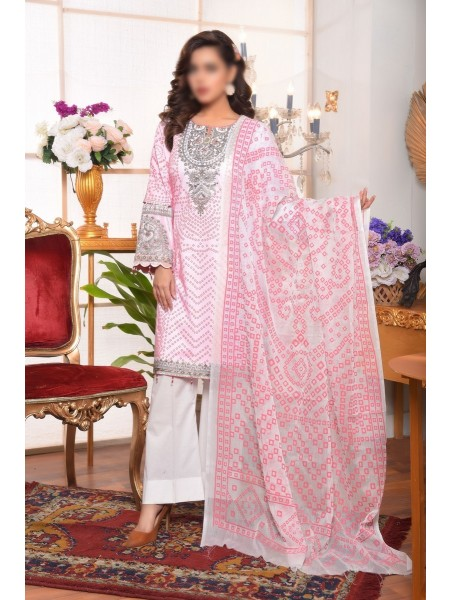 AMNA KHADIJA Qaus-e-Aazah Signature Unstitched Chundri Collection D-05
