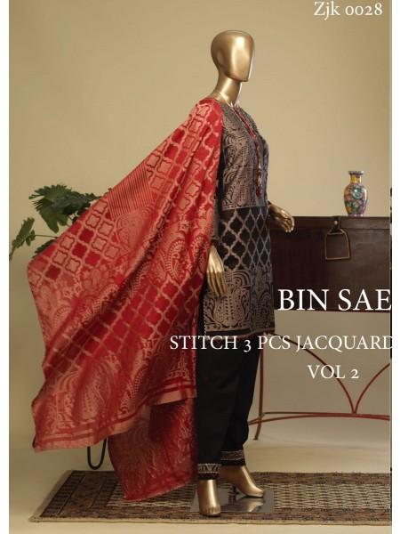 BIN SAEED Stitch 3 Pcs Jacquard Collection Vol 2 D-ZJK 0028