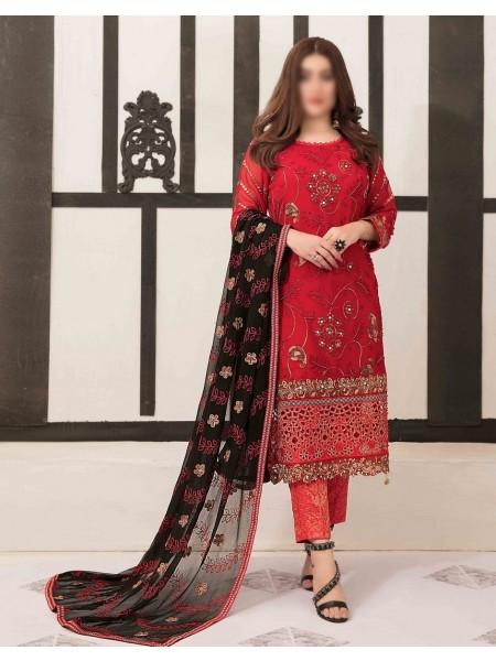 TAWAKKAL Sumptuous Serenity Unstitched Chiffon Aari Embroidery D-D 9423