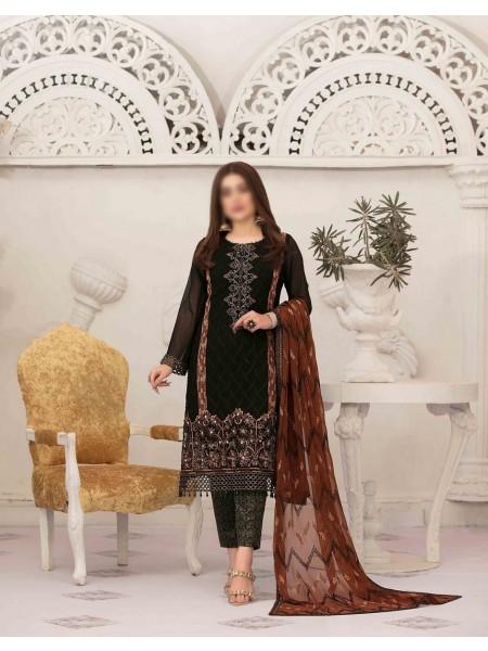 TAWAKKAL Sumptuous Serenity Unstitched Chiffon Aari Embroidery D-D 9424