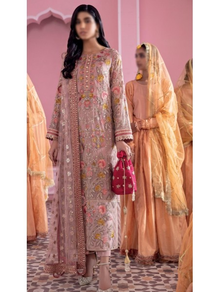 IZNIK BANARAS Unstitch Luxury Chiffon Formal Collection'21 D-03 HAWA