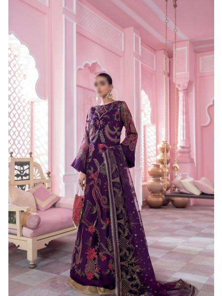 IZNIK BANARAS Unstitch Luxury Chiffon Formal Collection'21 D-05 BAGRU