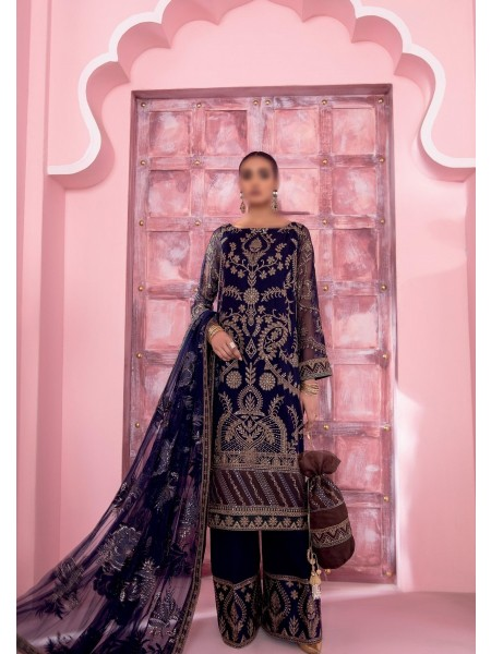 IZNIK BANARAS Unstitch Luxury Chiffon Formal Collection'21 D-10 MAHAL