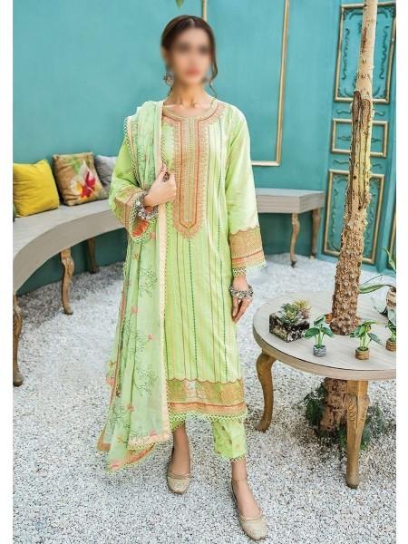 QALAMKAAR Aabyaan Unstitched Luxury Lawn'21 D-AL 10