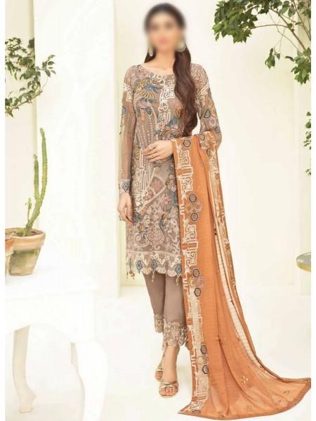 RAMSHA CLOTHING Ramsha Chevron Luxury Chiffon Collection Vol 3 D-A302