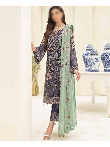 RAMSHA CLOTHING Ramsha Chevron Luxury Chiffon Collection Vol 3 D-A306