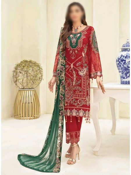 RAMSHA CLOTHING Ramsha Chevron Luxury Chiffon Collection Vol 3 D-A308
