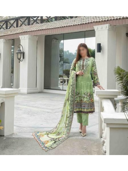 TAWAKKAL FABRICS Ephemeral Love Weaving Zari Check Unstitched Lawn Digital Print Collection D-1030