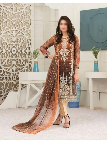 TAWAKKAL FABRICS Redefining Luxury Multi Shaded Chundri Semi Stitched Collection D-9588
