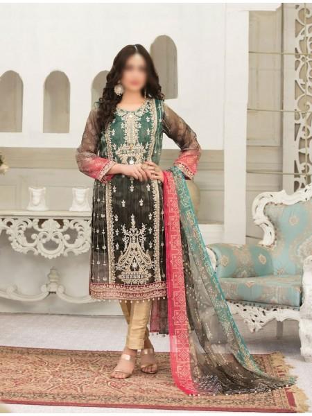TAWAKKAL FABRICS Redefining Luxury Multi Shaded Chundri Semi Stitched Collection D-9596