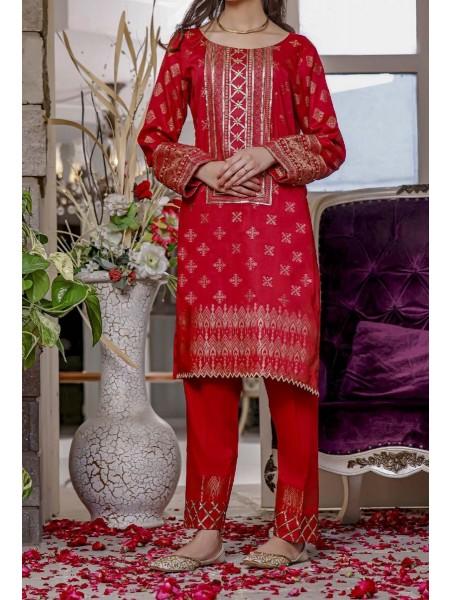 AMNA KHADIJA Nornag Unstitched Banarsi Jacquard 2 Pcs Collection D-01